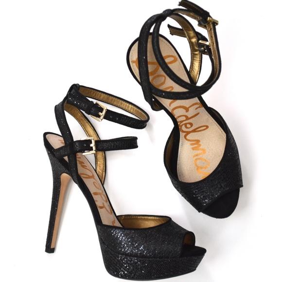 d5ec3cc70b4 Sam Edelman NADINE Platform Strappy Heel Glitter. M 5a9c00ad72ea88f219d23a6d